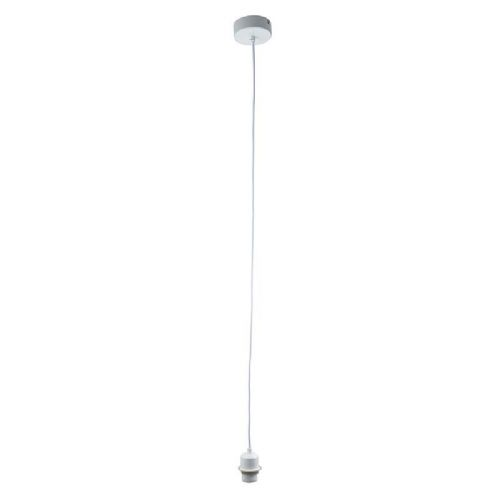 Gloss white Pendant Light BX61808-17 by Endon (Class 2 Double Insulated)